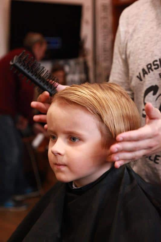Brilliant A Childrens Haircut For A Boy In The Barberhouse Teenage Natural Hairstyles Runnerswayorg